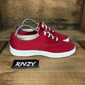 Keds Canvas Red White Low Top Casual Sneaker Shoes